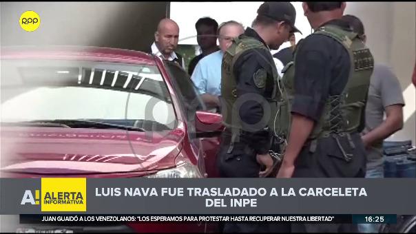 Traslado de Luis Nava a carceleta del INPE