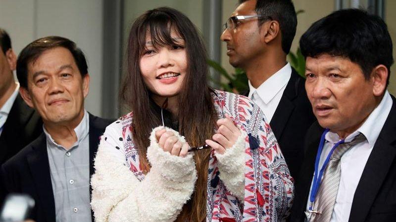 Doan Thi Houng había sido condenada en abril a tres años y cuatro meses de prisión por la muerte del hermano de Kim Jong-nam.