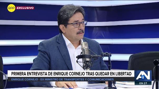Enrique Cornejo tiene comparecencia con restricciones luego de que el juez rechazara dictarle prisión preventiva por el caso Odebrecht.
