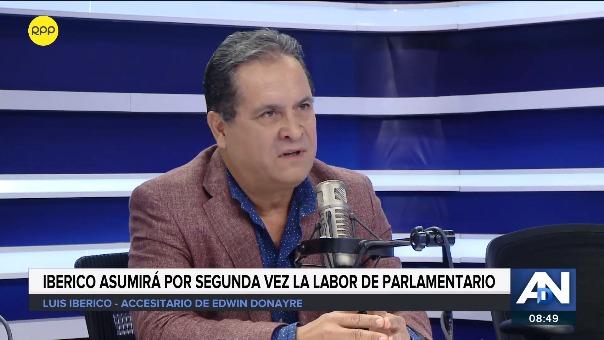 Luis Iberico señaló que trabajará por una agenda de