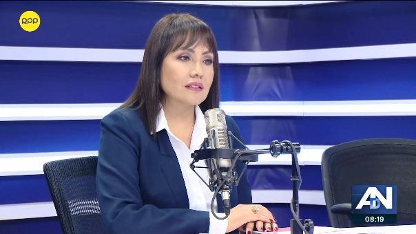 María Jara, ministra de Transportes y Comunicaciones.