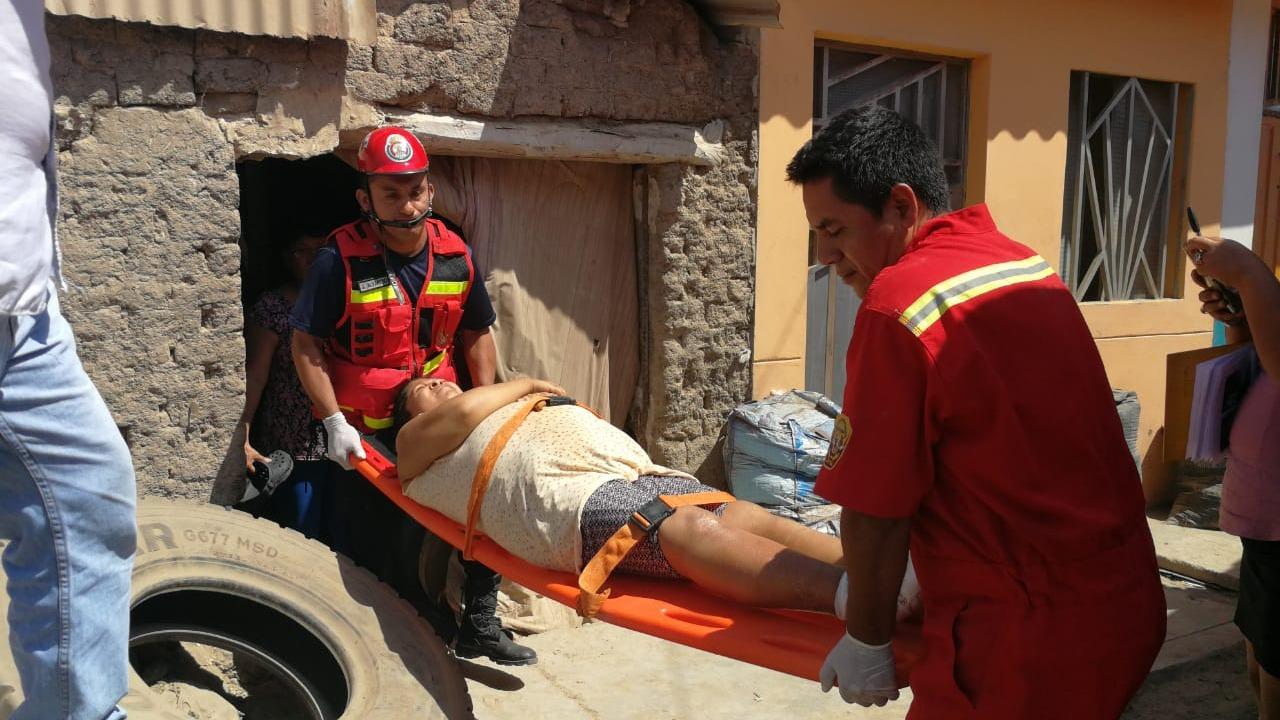 La mujer quedó internada en el hospital Las Mercedes
