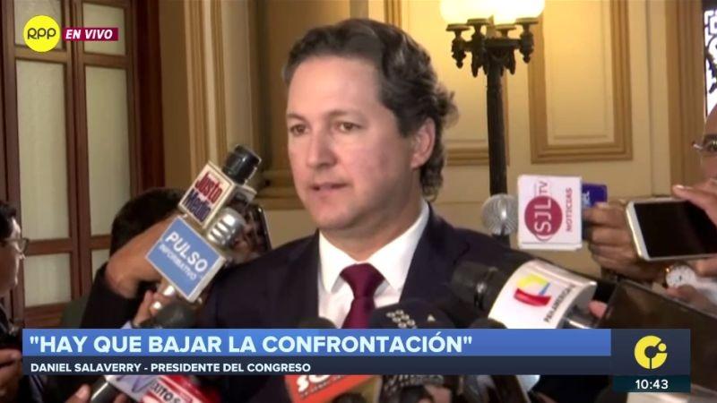 Daniel Salaverry habló sobre la polémica sesión de la Comisión de Defensa.