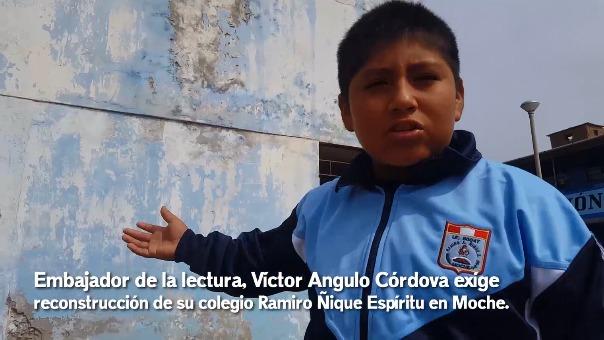 Video circula en redes sociales y tanto los directivos y estudiantes esperan una nueva infraestructura educativa.