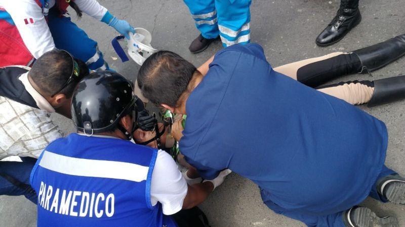 El accidente ocurrió en el cruce de las avenidas Mariscal Miller y César Vallejo.