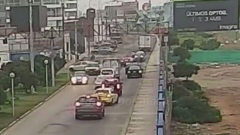 Agentes de seguridad particular frustraron el robo del camión.