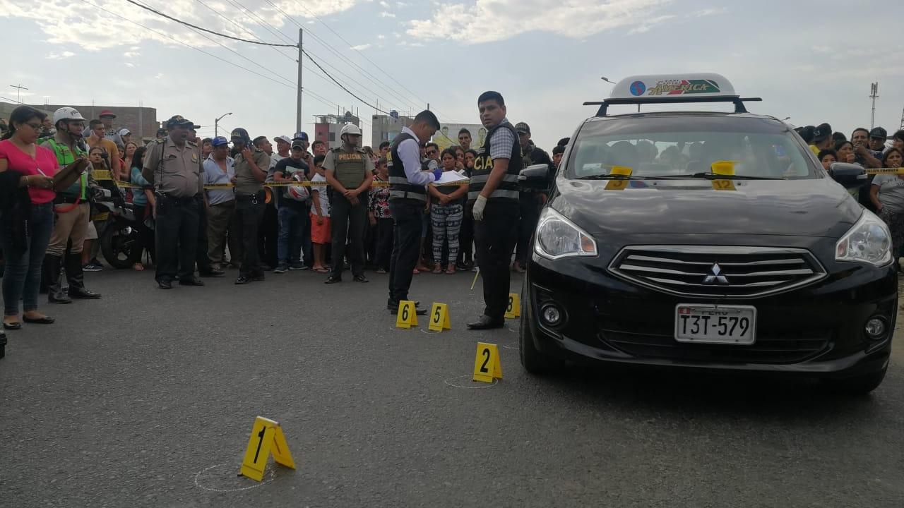 En el lugar, la Policía halló 12 casquillos de bala.