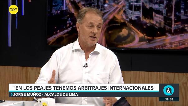 Jorge Muñoz en el programa ¿Quién Tiene la Razón? en RPP.
