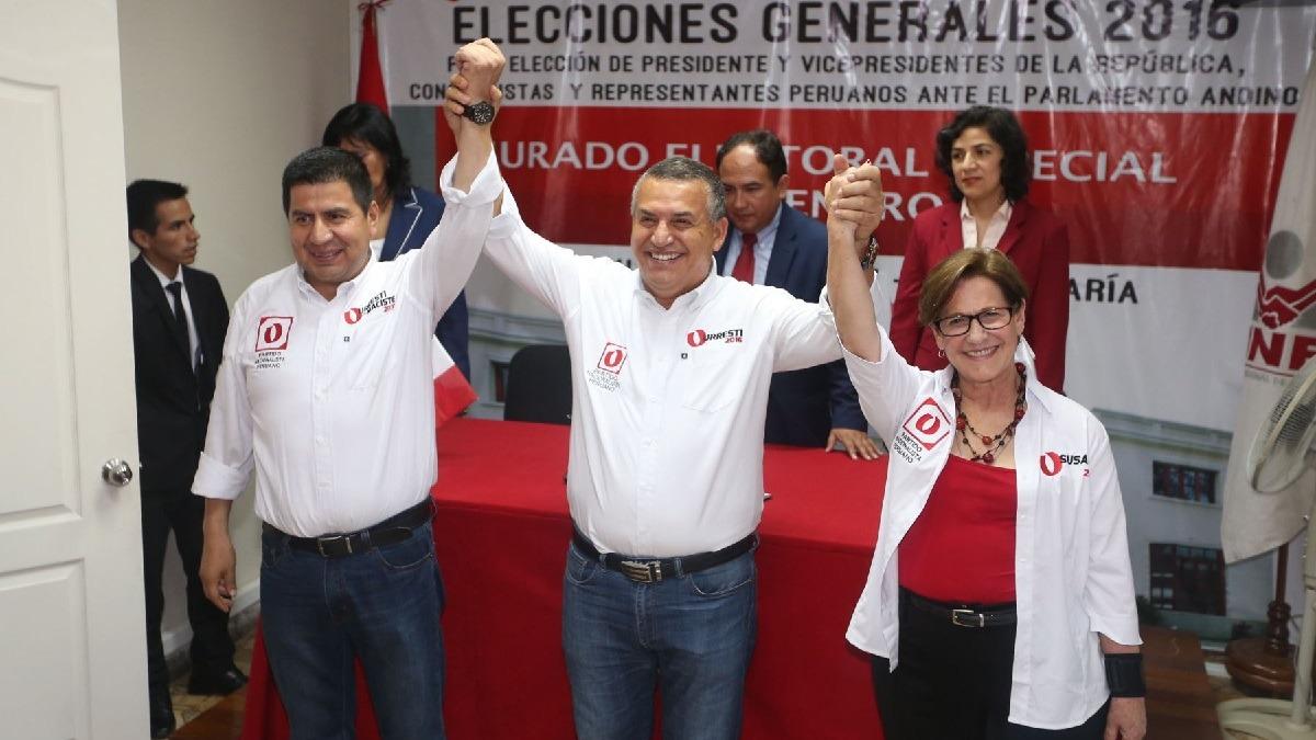 Daniel Urresti y Susana Villarán integraron la plancha presidencial del Partido Nacionalista.