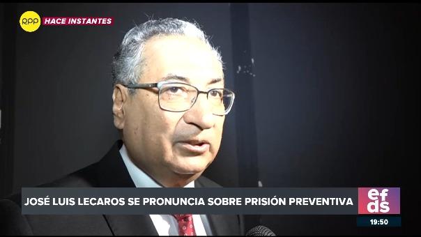 El presidente del Poder Judicial declara sobre la prisión preventiva.