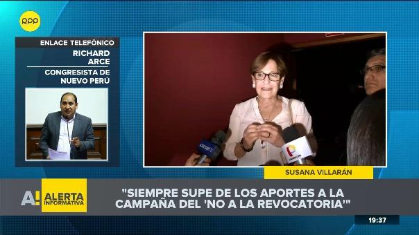 Richard Arce y Víctor Andrés García Belaunde se pronunciaron tras declaración de Susana Villarán.