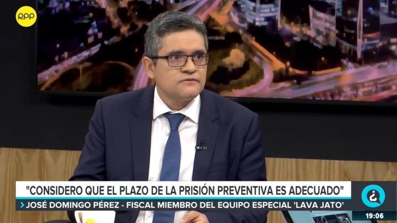José Domingo Pérez durante la entrevista con el programa '¿Quién tiene la razón?'.