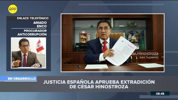 Amado Enco, procurador designado para la extradición de César Hinostroza.