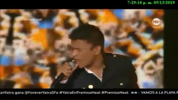 Presentación de Américo en los Premios Heat 2019, realizado el lunes 13 de mayo en República Dominicana.