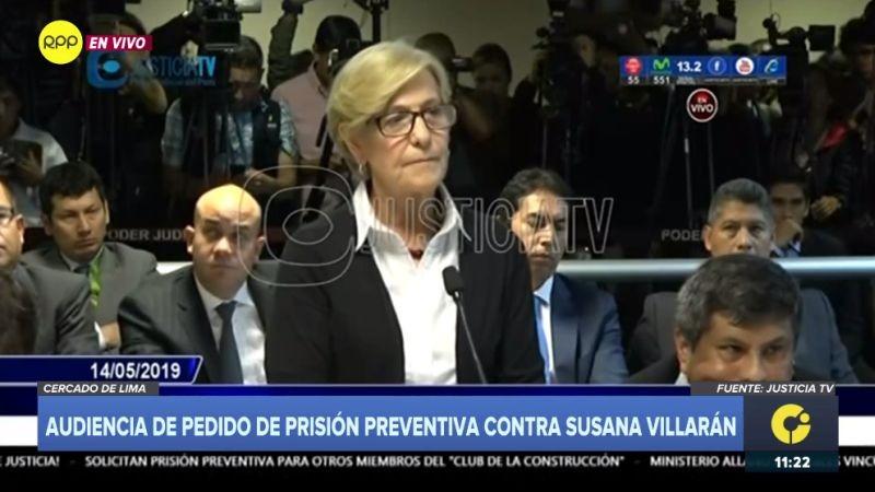 Susana Villarán habló ante el juez durante la sesión de este martes.