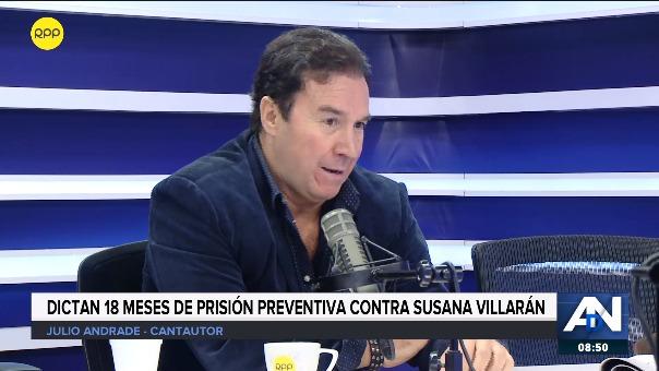 Julio Andrade compuso un spot para la campaña de Susana Villarán.