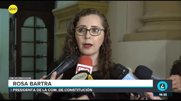 Rosa Bartra, presidenta de la Comisión de Constitución del Congreso.