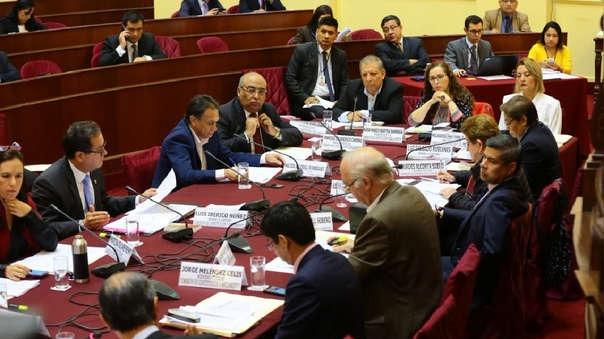 El grupo de trabajo debatió por horas la iniciativa del Ejecutivo.