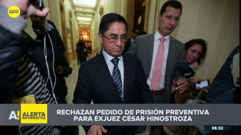 César Hinostroza continuará en libertad hasta que se ejecute la extradición a Perú.