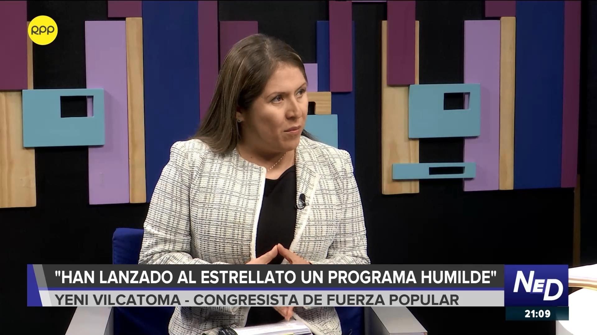 La legisladora de Fuerza Popular se pronunció por las críticas al espacio que tiene en el canal del Congreso.