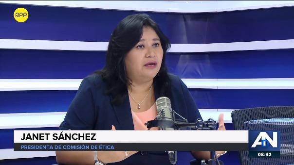 Janet Sánchez explicó las razones por las que quieren separarla de la mesa de Ética.