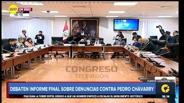 Subcomisión de Acusaciones Constitucionales vota el informe de Juan Sheput sobre Pedro Chávarry.