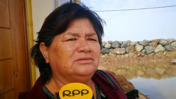 Marielena Guerrera vive 30 años en el sector y pide reforzar el enrocado.