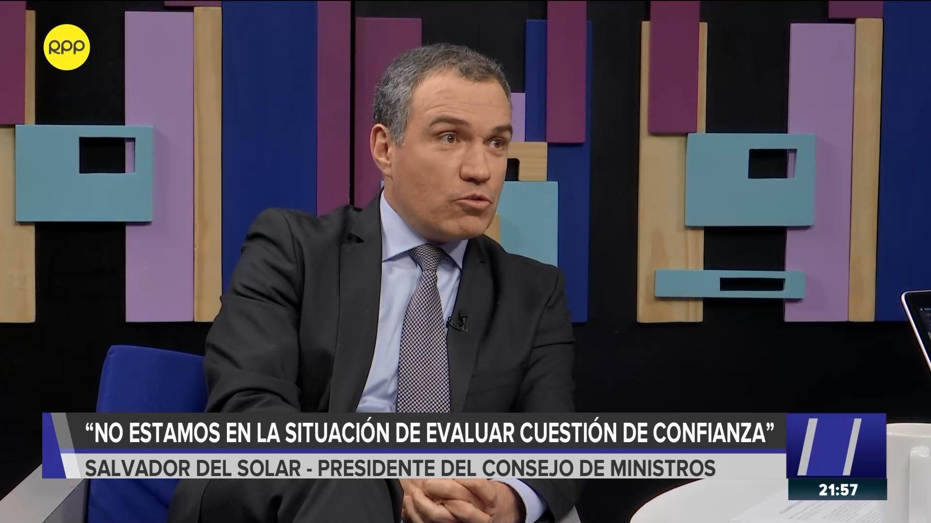 El presidente del Consejo de Ministros también defendió la visita del presidente Vizcarra al Congreso.