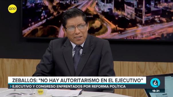 Vicente Zeballos señaló que el