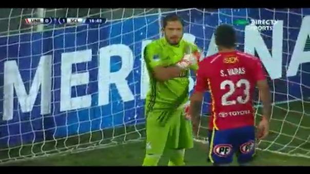Patricio Álvarez se lució con este par de atajadas frente a Unión Española por Copa Sudamericana.