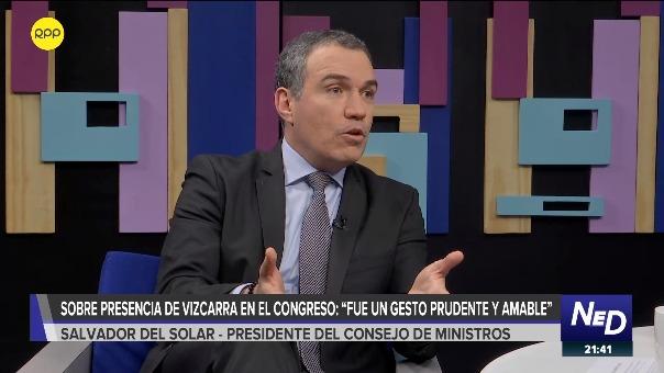El presidente del Consejo de Ministros, Salvador del Solar, consideró un
