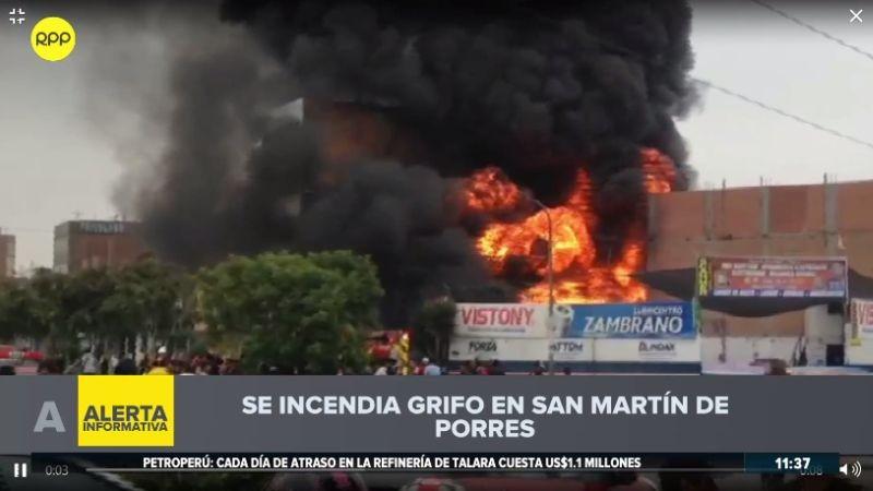 El incendio causó alarma entre los vecinos, que aseguraron haber escuchado explosiones.