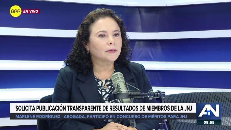 Marlene Rodríguez Sifuentes en Ampliación de Noticias.