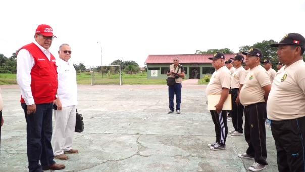 El ministro de Defensa, José Huerta informó a los excombatientes sobre el Día del Veterano de Guerra y de la Pacificación Nacional, que se celebrará cada 26 de octubre.