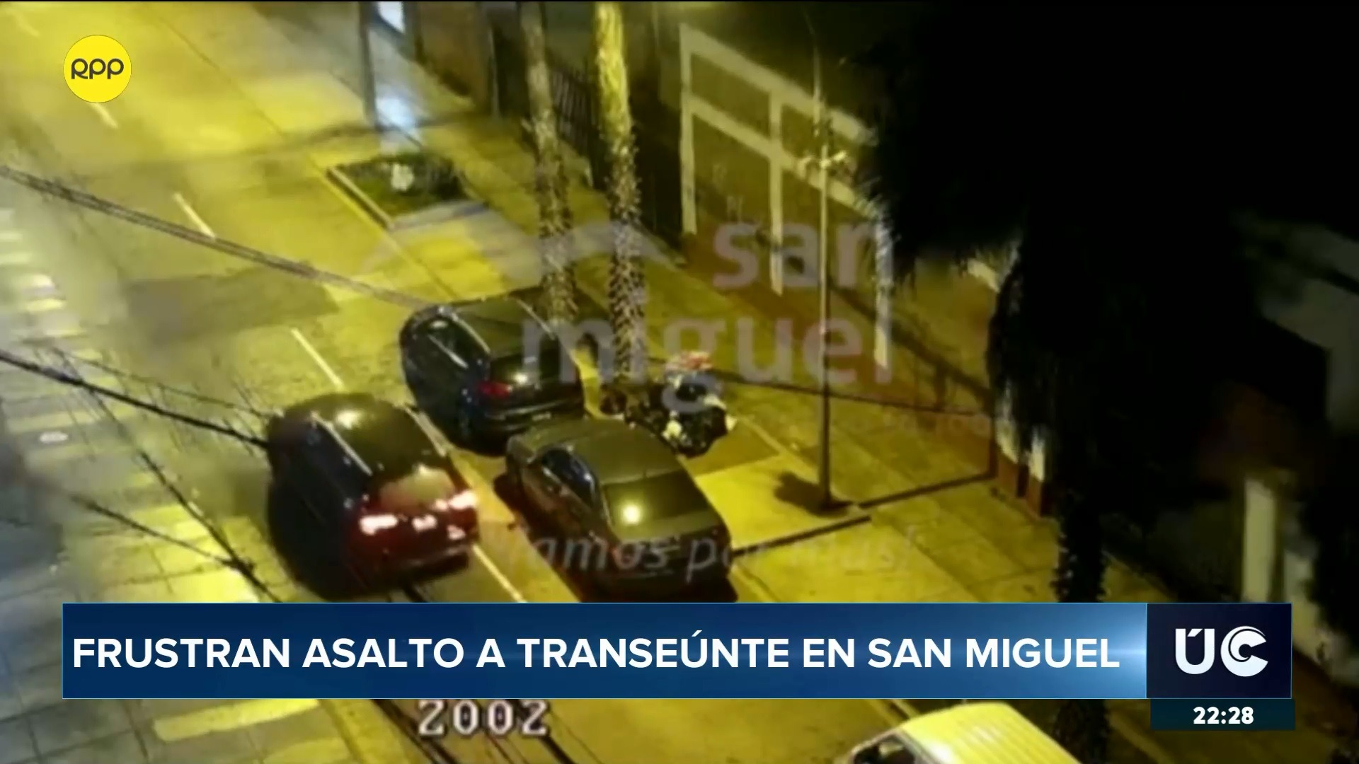 El robo se produjo a pocos metros de la Municipalidad de San Miguel.