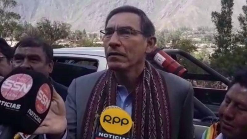 Martín Vizcarra brindó estas declaraciones en Cusco.