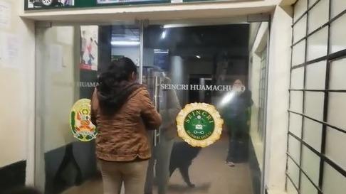 Víctimas acudieron a la comisaría de Huamachuco.