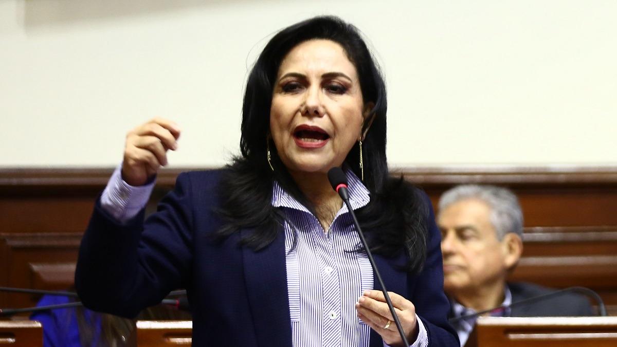Gloria Montenegro, ministra de la Mujer y Poblaciones Vulnerables.