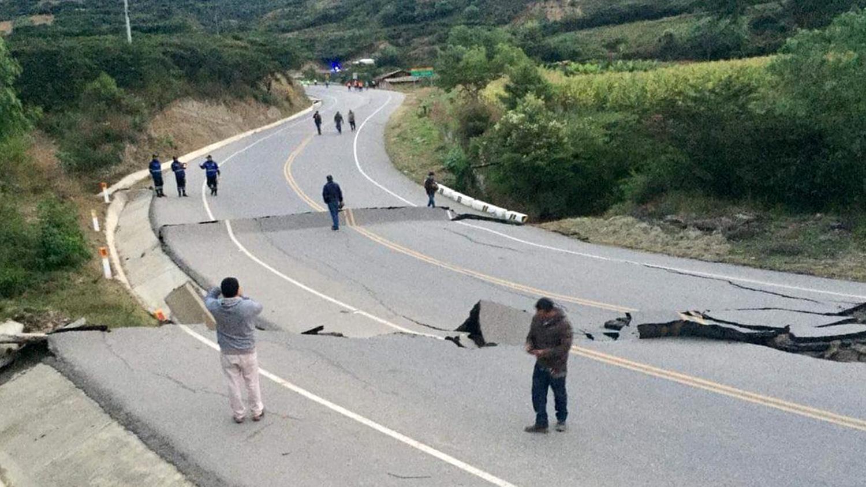 El pase vehicular se encuentra interrumpido a la altura del km 109 de la carretera Cajamarca-Cajabamba en el sector Huañimba.