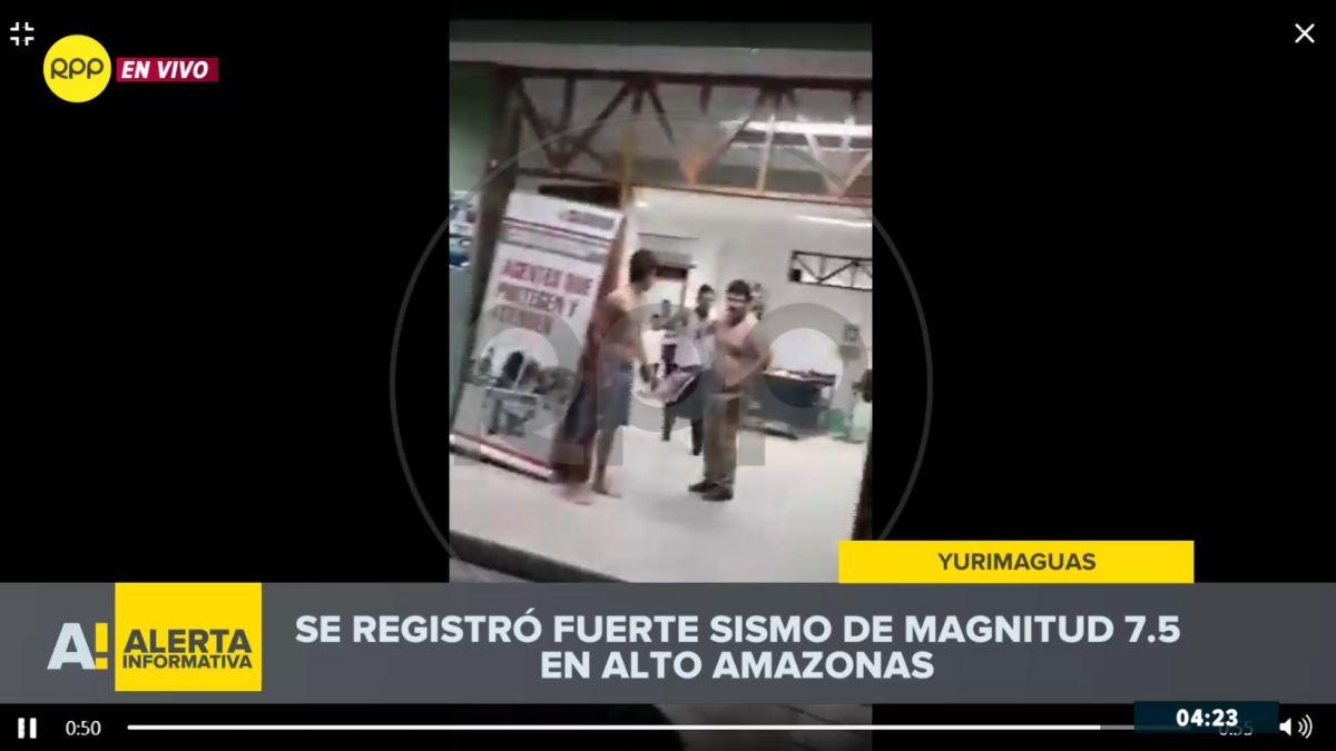 El terremoto en una comisaría de Yurimaguas