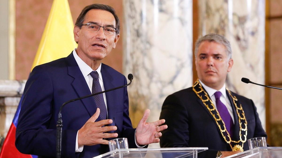 Presidentes Martín Vizcarra e Iván Duque reafirmaron el compromiso de sus gobiernos.