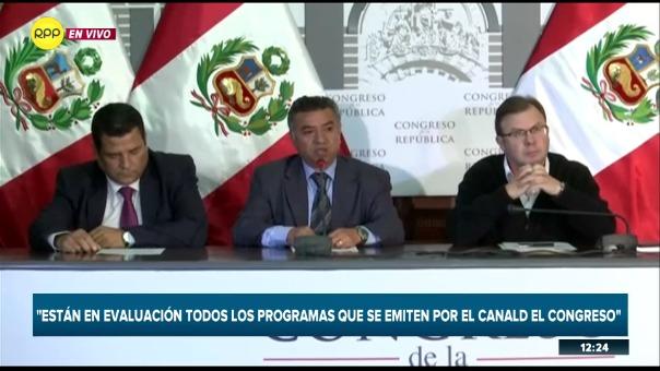 Conferencia de prensa del jefe de comunicaciones del Congreso