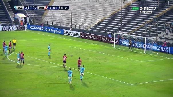Este es el segundo gol de Christofer Gonzales con Sporting Cristal en la Copa Sudamericana.