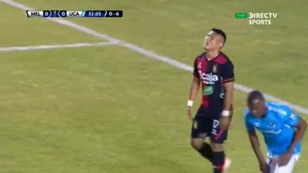 Este fue el remate de Hideyoshi Arakaki que casi termina en gol de Melgar.