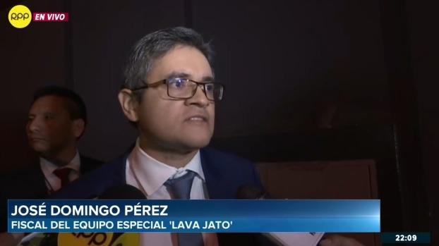 José Domingo Pérez criticó la actuación de la Comisión Permanente del Congreso.