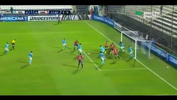 Esta fue la oportunidad de gol fallada por Unión Española ante Sporting Cristal.