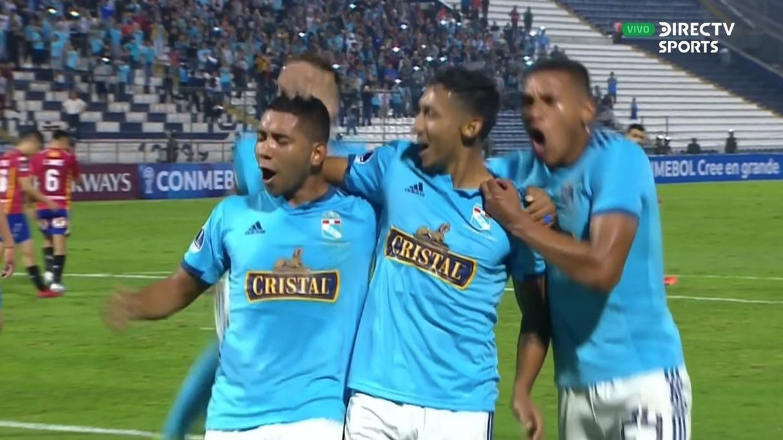 Cristian Palacios abrió el marcador en Matute en el duelo entre Sporting Cristal vs. Unión Española