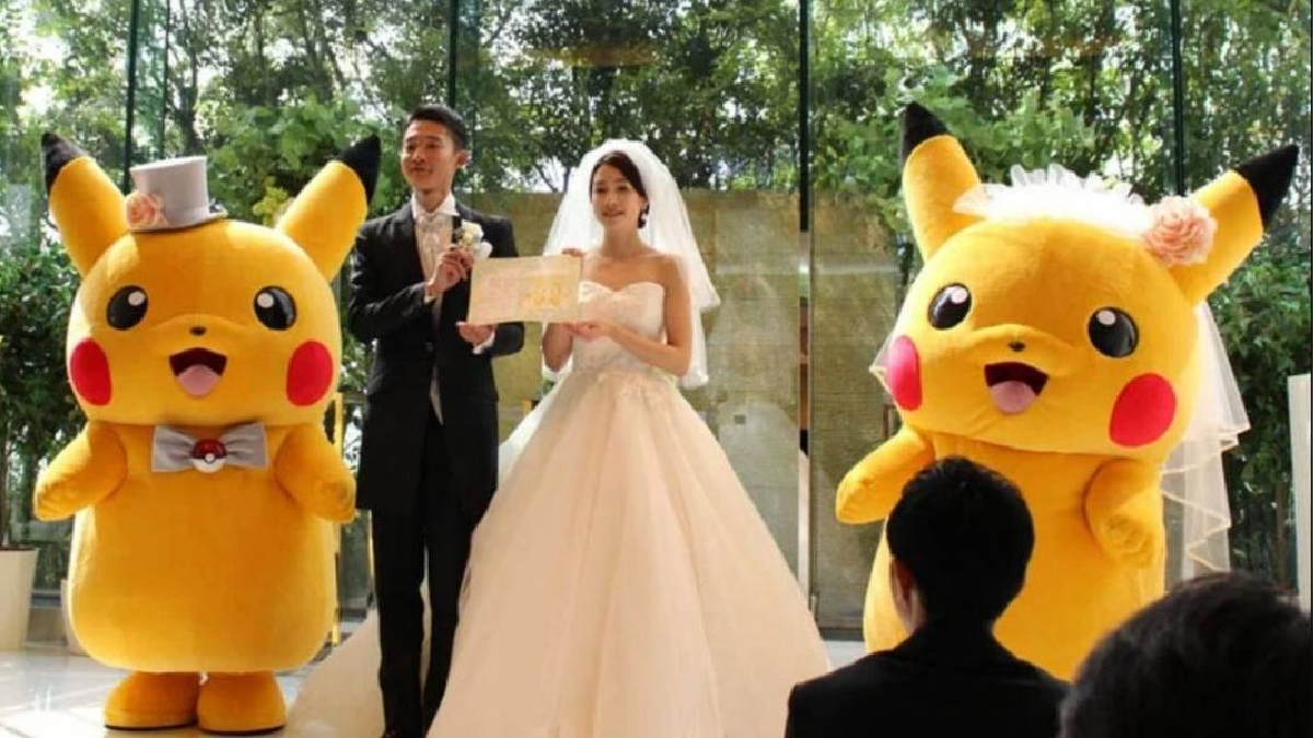Una adorable fiesta de matrimonio totalmente legal y licenciada es posible en Japón.