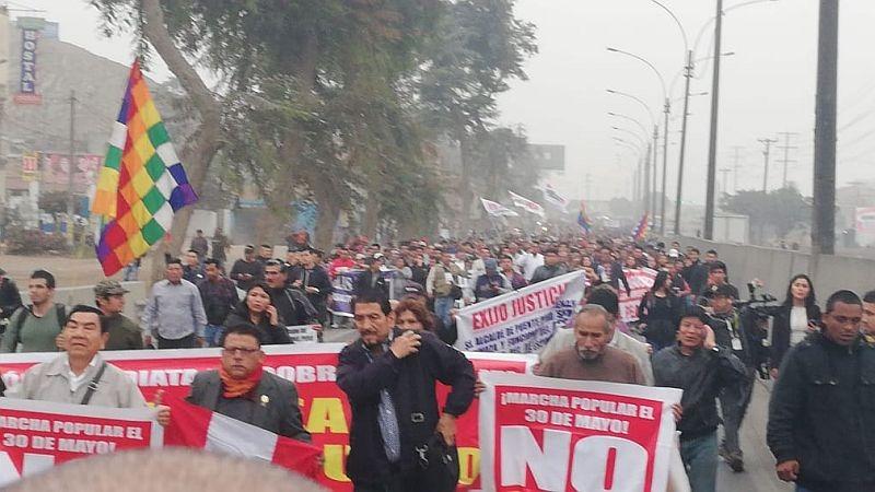 La marcha culminará en la Escuela Técnico Superior de la Policía, en Puente Piedra.