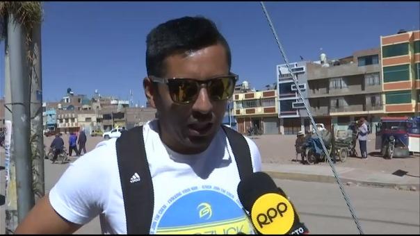 Michael Sotillo habló con RPP Noticias en Jualica.